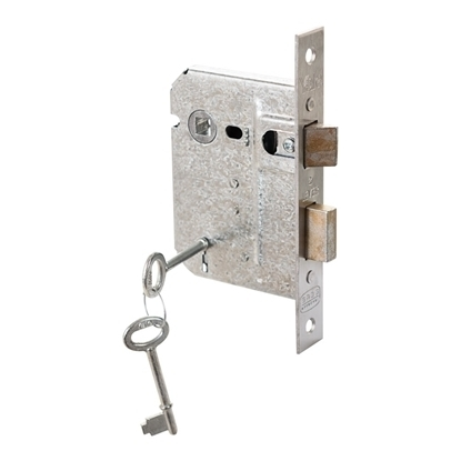 Picture of 2 Lever Galvanised Upright Lock - Chrome