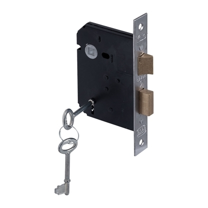 Picture of 2 Lever Powder Coated Upright Lock - Chrome