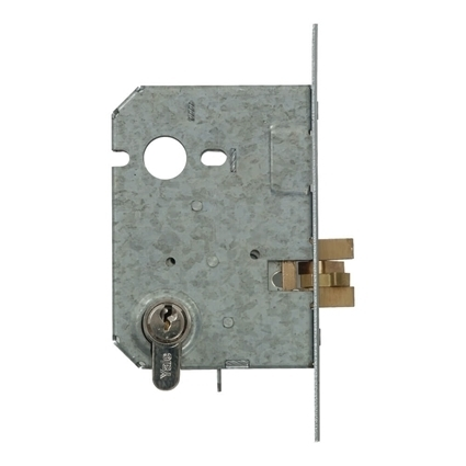 Picture of Euro Profile Cylinder Sliding Door Claw Bolt Lock - Nickel Plated