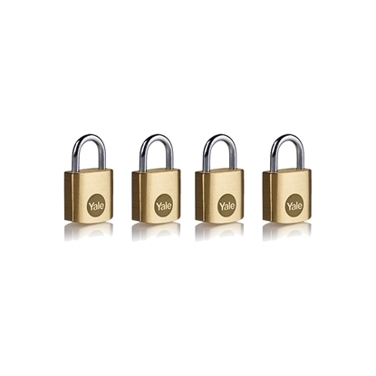 Picture of 20mm Brass Padlock - Quad Pack