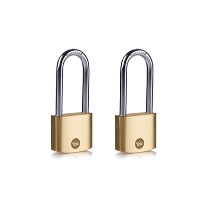 Picture of 30mm Brass Long Shackle Padlock - Duo Pack
