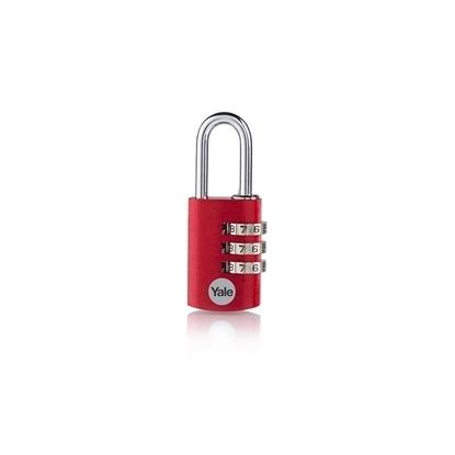 Picture of 3-dial Aluminium Combination Padlock - Red