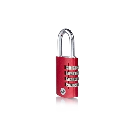 Picture of 4-dial Aluminium Combination Padlock - Red