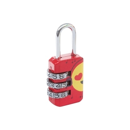 Picture of Emoji Combination Lock - Red